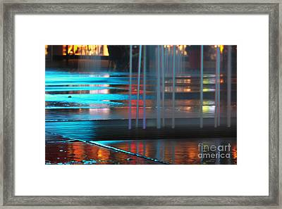 Colors Of Urban Night Framed Print by Charline Xia