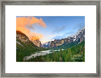 Colors Of Yosemite Framed Print by Jamie Pham