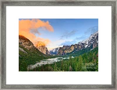 Colors Of Yosemite Framed Print by Jamie Pham