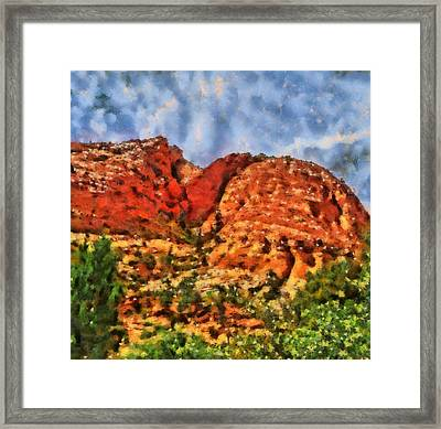 Colors Of Zion Framed Print by Dan Sproul