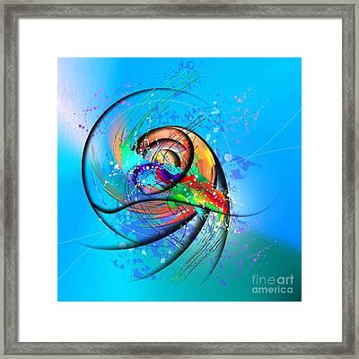 Colorwave Framed Print by Franziskus Pfleghart