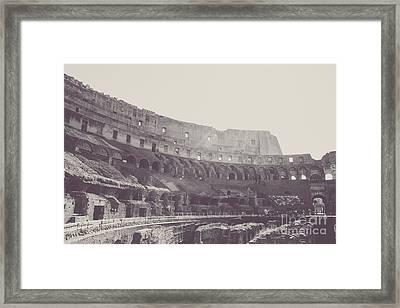 Colosseo Framed Print by Christina Klausen