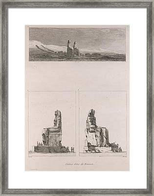 Colossi Of Memnon Framed Print by British Library