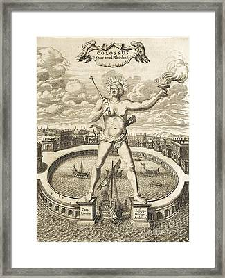 Colossus Of Rhodes, 17th-century Artwork Framed Print by Asian And Middle Eastern Division