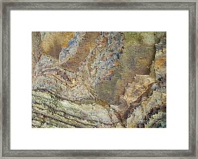 Colour Jagged Rock Framed Print by Graham Foulkes