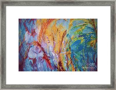 Colourful Abstract Framed Print by Ann Fellows