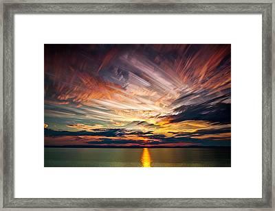 Colourful Cloud Collision Framed Print by Matt Molloy