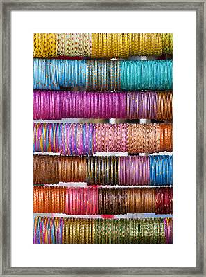 Colourful Indian Bangles Framed Print by Tim Gainey
