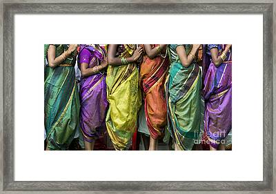Colourful Sari Pattern Framed Print by Tim Gainey
