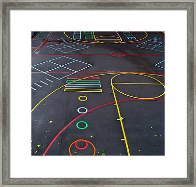 Colourful School Playground Framed Print by Georgina Noronha