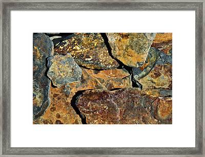 Colourful Slate Framed Print by Pete Hemington