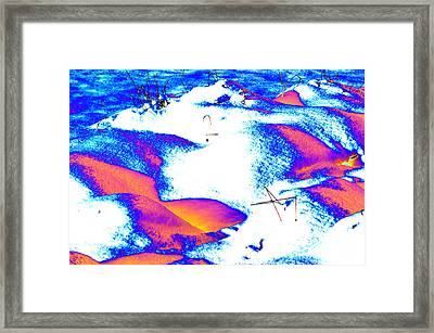Colourful Snow Framed Print by Carol Lynch