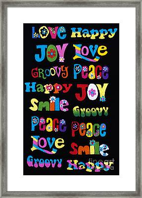 Colourful Words Framed Print by Tim Gainey