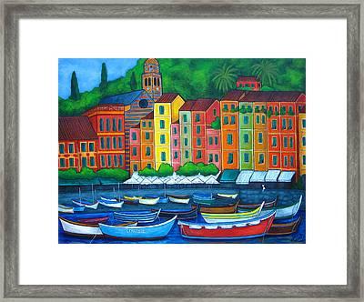 Colours Of Portofino Framed Print by Lisa  Lorenz