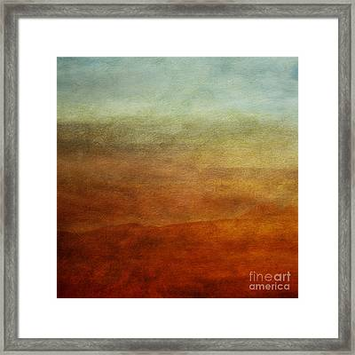 Colours Of The Fall Framed Print by Priska Wettstein