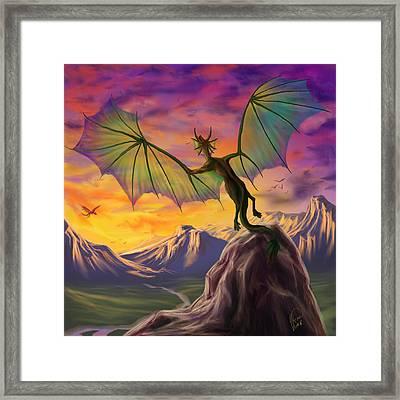 Colours Of The Sky Framed Print by Katerina Romanova