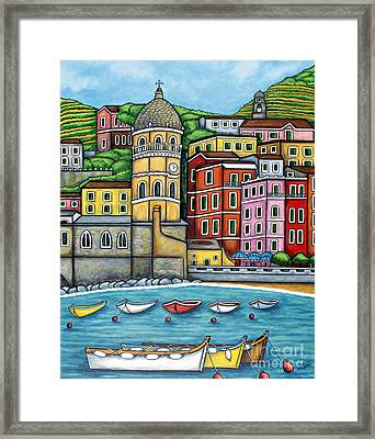 Colours Of Vernazza Framed Print by Lisa  Lorenz