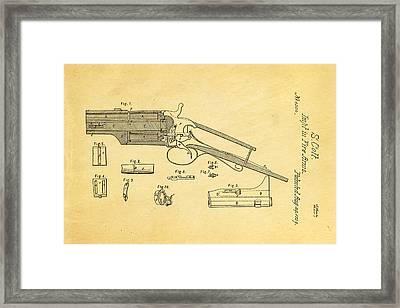 Colt Pistol Patent Art 1839 Framed Print by Ian Monk
