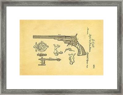 Colt Pistol Patent Art  3 1839  Framed Print by Ian Monk