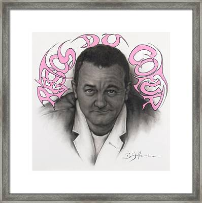 Coluche Framed Print by Guillaume Bruno