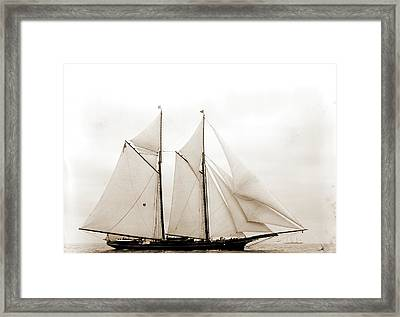 Columbia, Columbia Schooner, Yachts Framed Print by Litz Collection