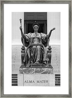 Columbia University Alma Mater Framed Print by University Icons