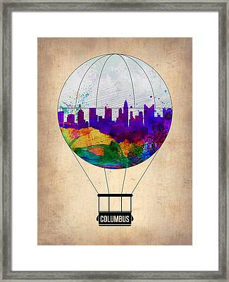Columbus Air Balloon Framed Print by Naxart Studio