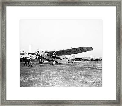 Columbus Airplane Framed Print by Library Of Congress