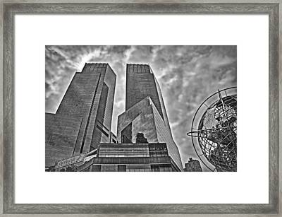 Columbus Circle - B/w Framed Print by Hanny Heim
