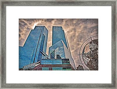 Columbus Circle Framed Print by Hanny Heim