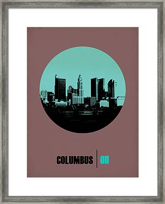 Columbus Circle Poster 2 Framed Print by Naxart Studio