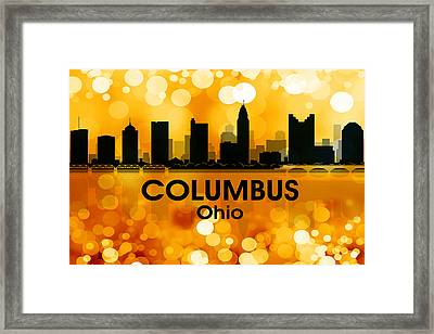 Columbus Oh 3 Framed Print by Angelina Vick