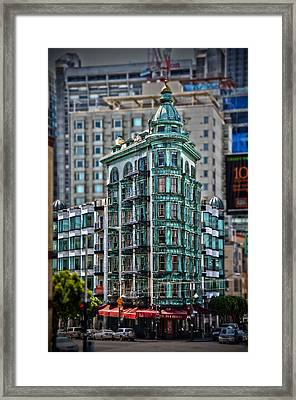 Columbus Tower In San Francisco Framed Print by RicardMN Photography