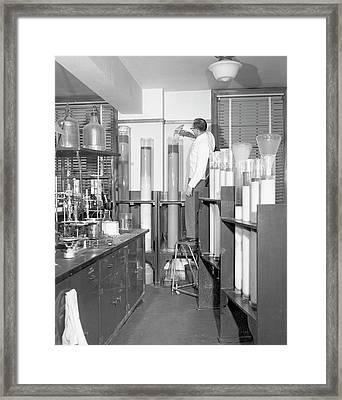 Column Chromatography Framed Print by Food & Drug Administration