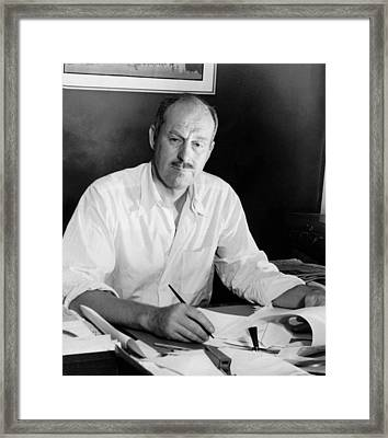 Columnist Drew Pearson Framed Print by Underwood Archives