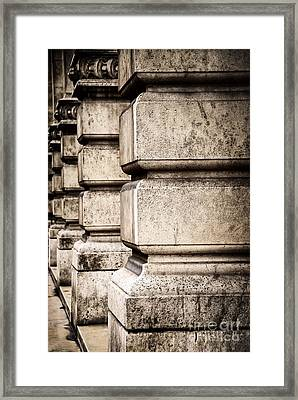 Columns Framed Print by Elena Elisseeva