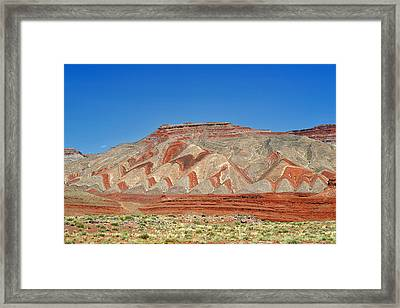 Comb Ridge Utah Near Mexican Hat Framed Print by Christine Till