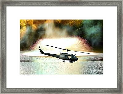 Combat Helicopter Framed Print by Olivier Le Queinec