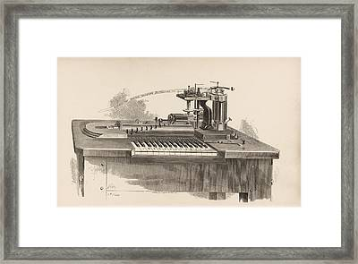 Combined Printer-telegraph Framed Print by King's College London