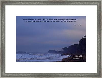 Come And Fish With Me Framed Print by Sandra Clark