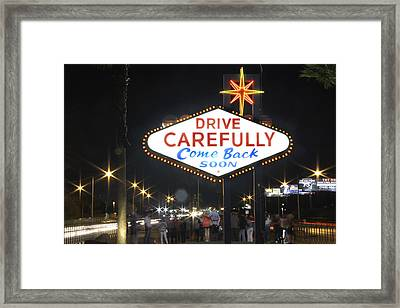 Come Back Soon Las Vegas  Framed Print by Mike McGlothlen