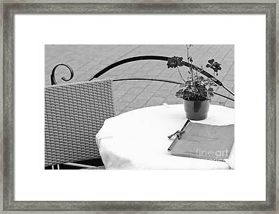 Come Dine With Me Framed Print by Pati Photography
