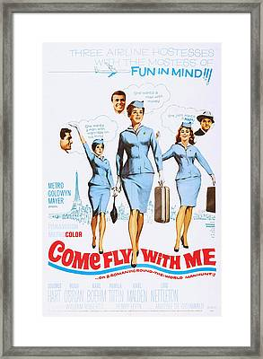 Come Fly With Me, Us Poster, From Left Framed Print by Everett