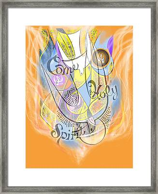 Come Holy Spirit Come Framed Print by Anne Cameron Cutri