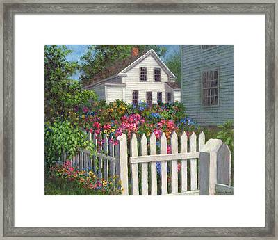 Come Into The Garden Framed Print by Susan Savad