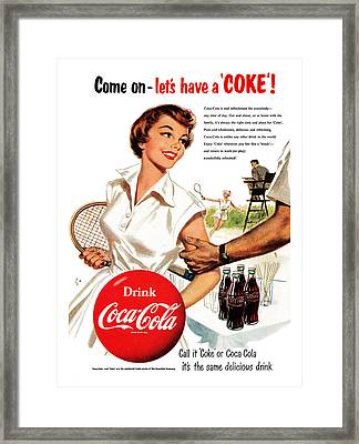 Come Let's Have A Coke Framed Print by Georgia Fowler