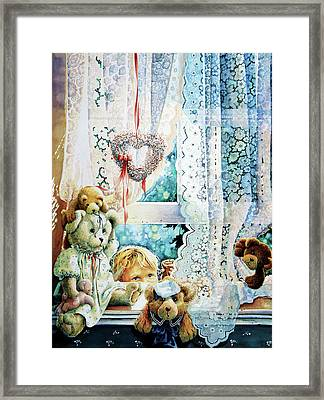 Come Out And Play Teddy Framed Print by Hanne Lore Koehler