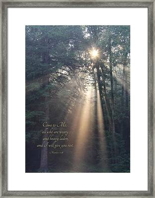 Come To Me Framed Print by Lori Deiter