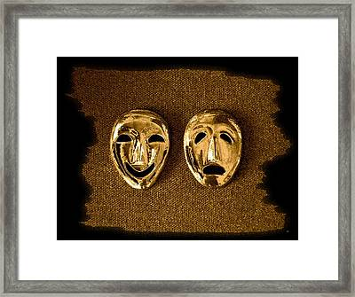 Comedy And Tragedy Masks 1 Framed Print by Will Borden