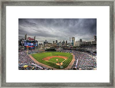 Comerica Park Home Of The Tigers Framed Print by Shawn Everhart